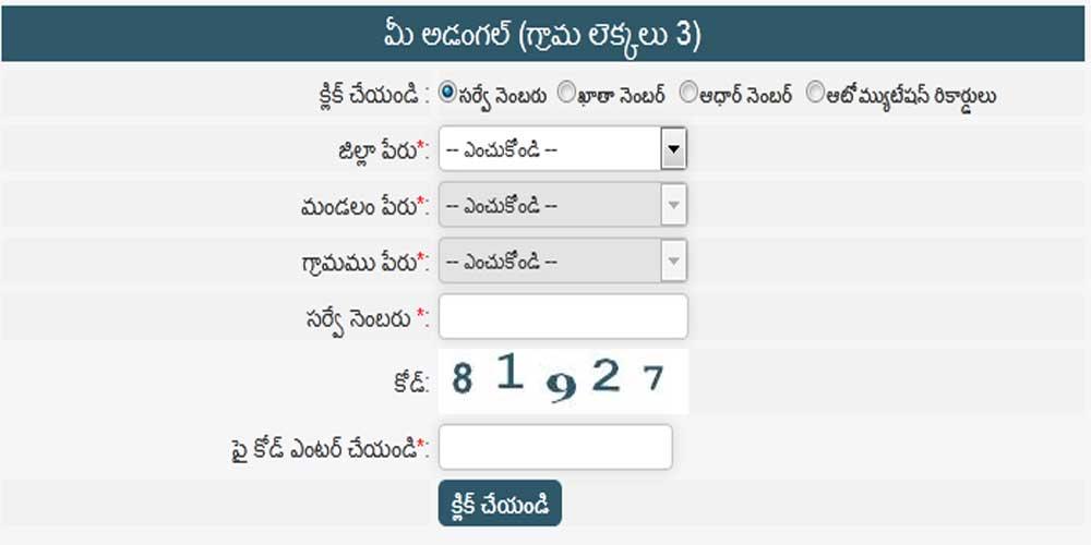Check Individual Adangal Record