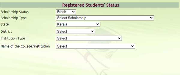 Registered Students' Status