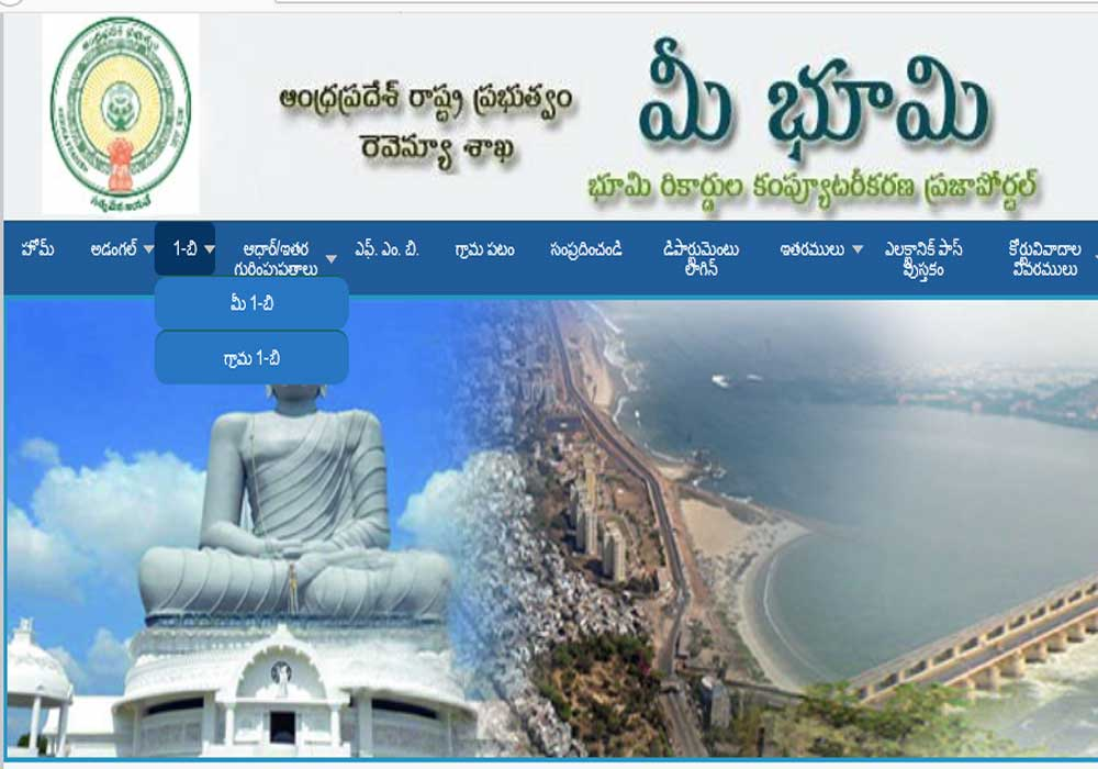 AP Meebhoomi  Land Record